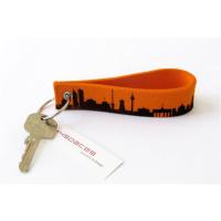 BERLIN CITY LOOP - Orange key fob made of wool felt