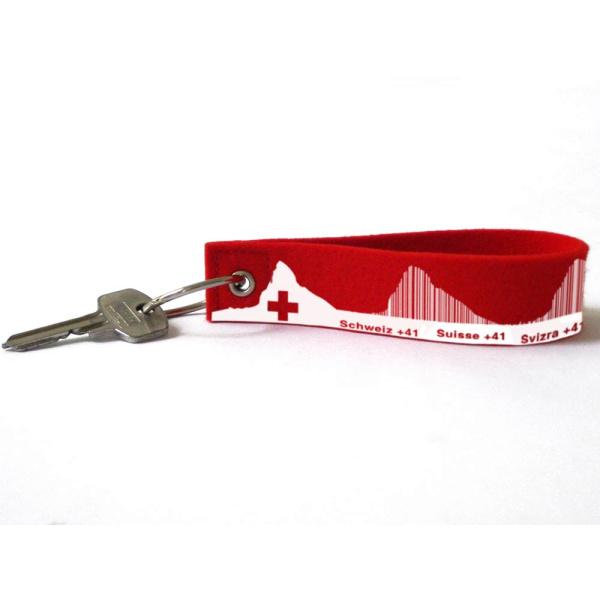 Schweiz Loop . Filz-Schlüsselanhänger