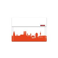 München Mini Wallet. Tangerine