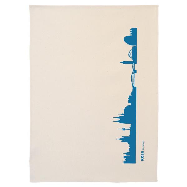 Köln Geschirrtuch. blau