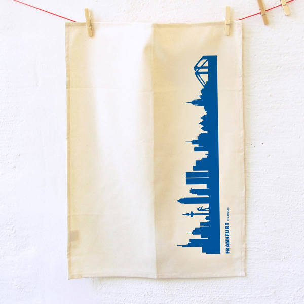 Dish Towel Frankfurt. blue
