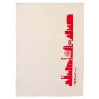 Dish Towel Yokohama. red