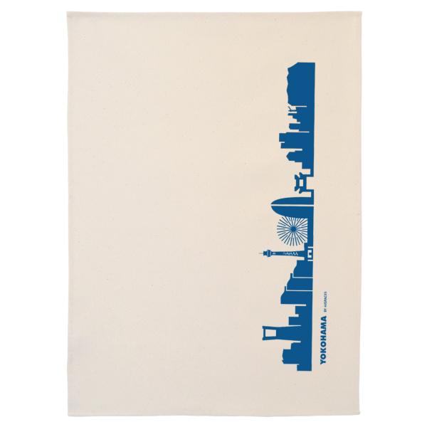 Dish Towel Yokohama. blue