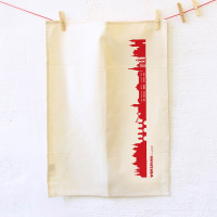 CITY TEA TOWEL. Dish towel made of cotton with coloured...