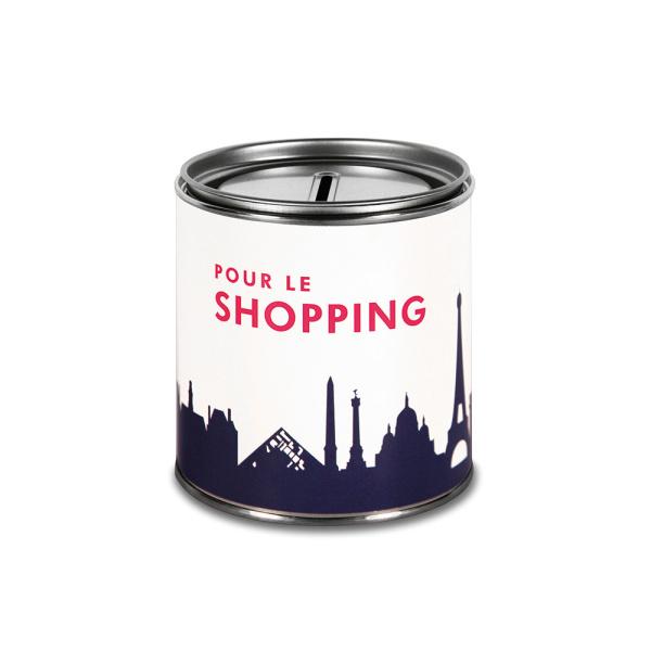 """Paris Cash Box. """"POUR LE Shopping"""" Money box"""