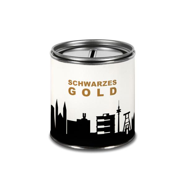 "Ruhrpott Cash Box. ""SCHWARZES GOLD"" Money box"