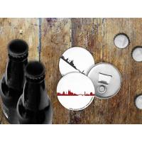 COLOGNE BOTTLE OPENER. Magnetic bottle opener with skyline in dark grey
