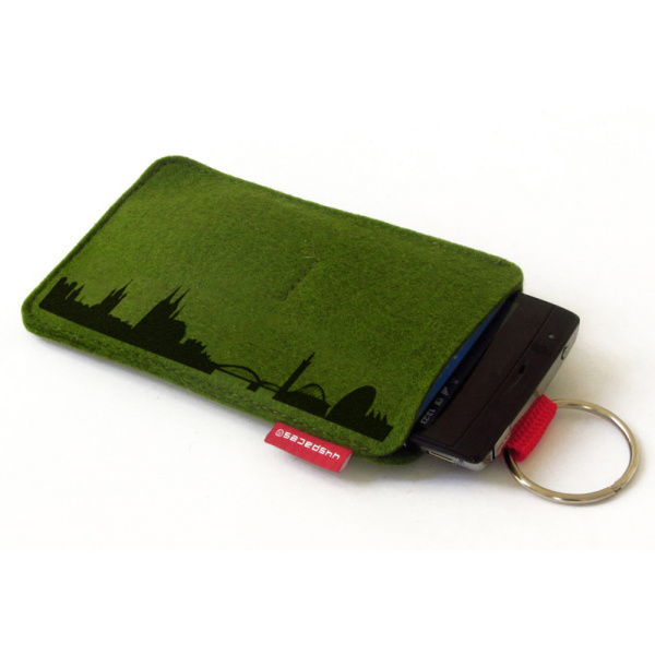 Cologne Sleeve. moss green