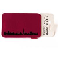 Paris Sleeve. wine red