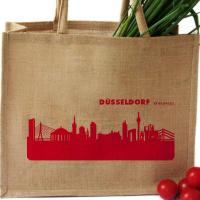 Düsseldorf Shopper. rot