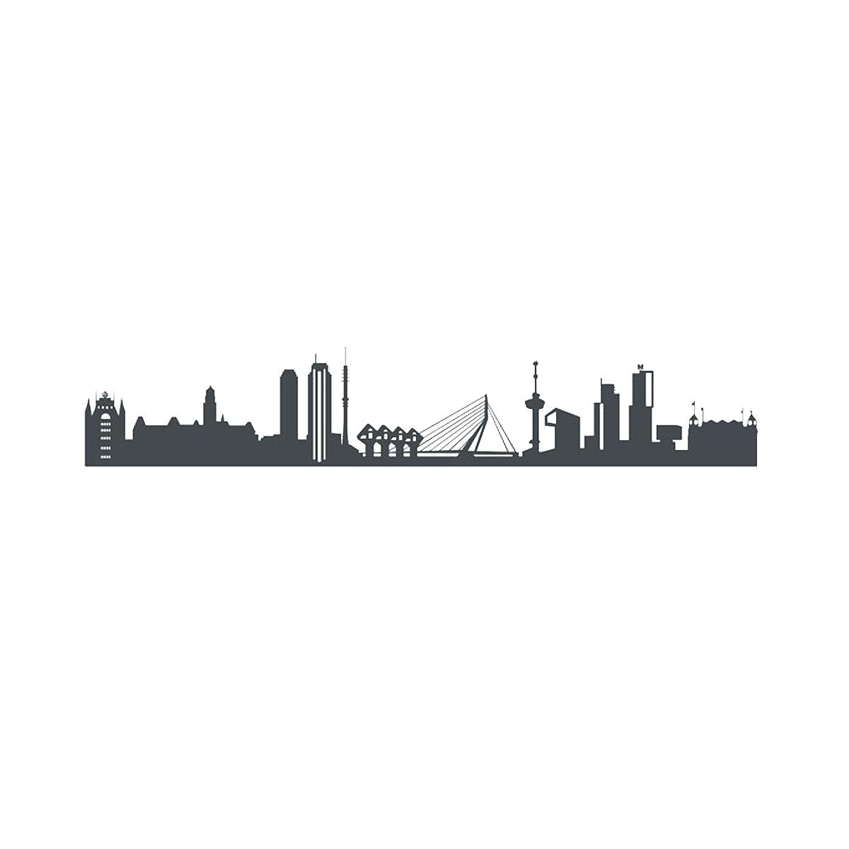 Rotterdam Sticker Dark Grey