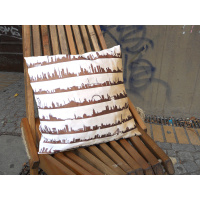 16 Metropolen Cushion. Linen & Rosegold