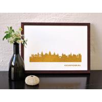 Aschaffenburg Skyline Kunstdruck