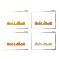 Bamberg Skyline Kunstdruck