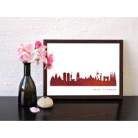 Barcelona Skyline Kunstdruck