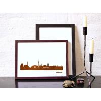 Bremen Skyline Kunstdruck