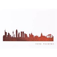 Frankfurt Skyline Kunstdruck