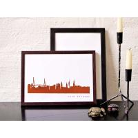 Hamburg Skyline Kunstdruck