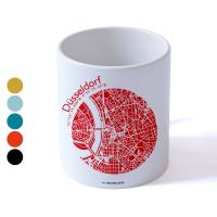 Düsseldorf Tasse Stadtplan