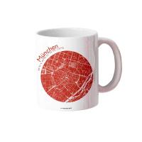 München Tasse Stadtplan