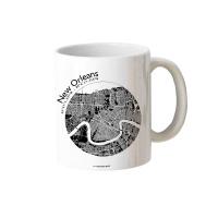 NEW ORLEANS Map Mug. Black