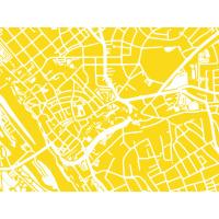 Hamburg Karte. sun | 30 x 21 cm