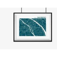 BAMBERG Plan. clementine | 42 x 30 cm