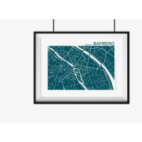 BAMBERG Plan. plum | 60 x 42 cm