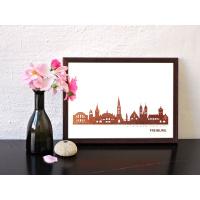 Freiburg Skyline Kunstdruck