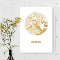 Boston map circle