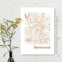 Dortmund Karte Eckig