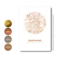 Dortmund Karte Rund