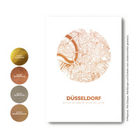 Düsseldorf map circle