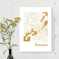 Potsdam Karte Eckig