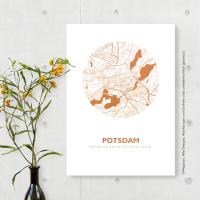 Potsdam Karte Rund