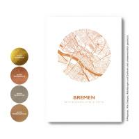 Bremen Karte Rund