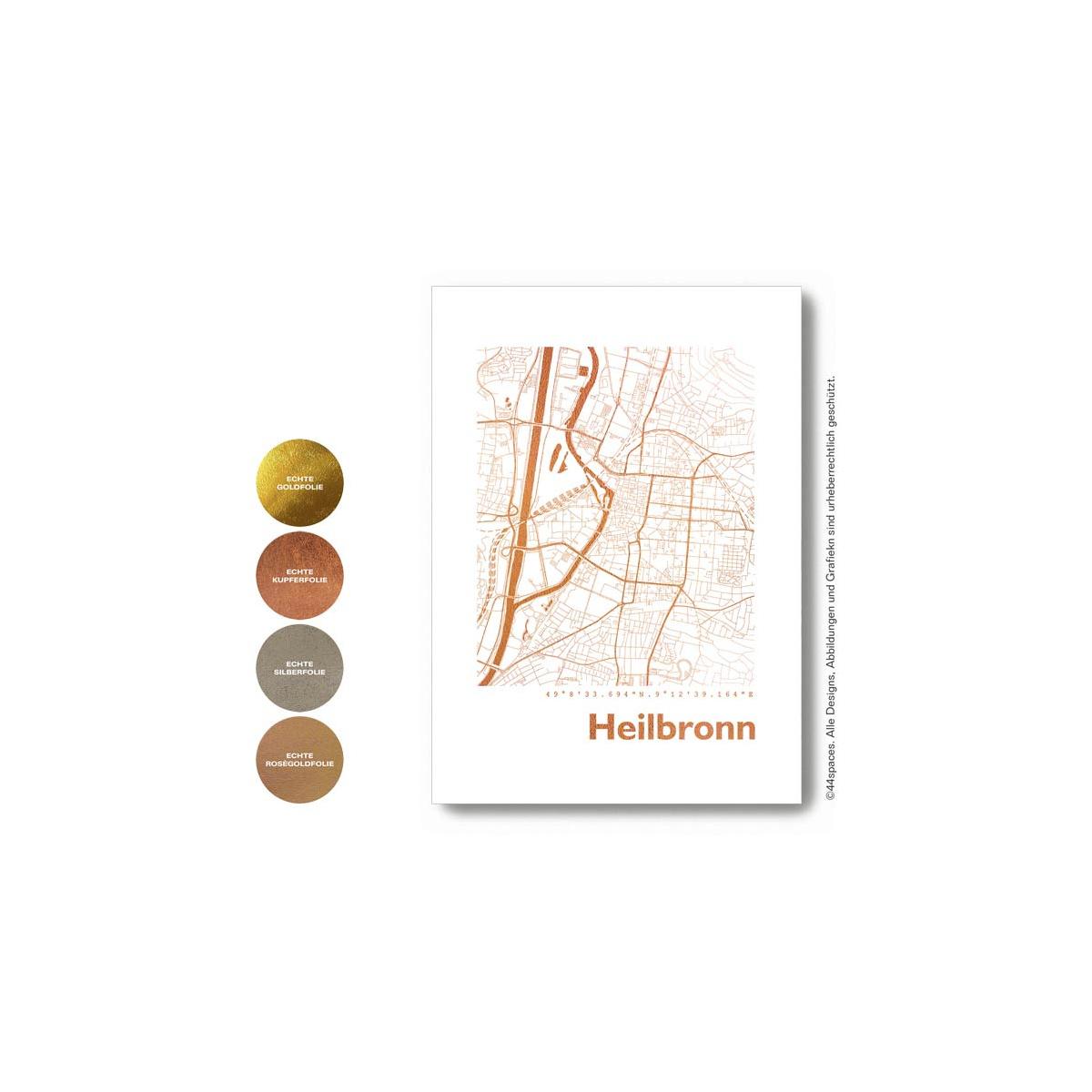 Heilbronn Karte Stadtplan.Heilbronn Stadtplan Eckig