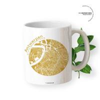 Antwerpen Tasse Stadtplan