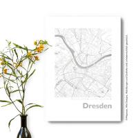 Dresden Karte Eckig
