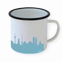 Berlin Enamel Mug. Skyline