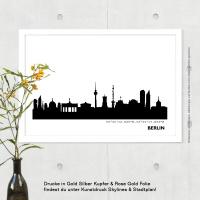 Berlin Skyline Bild s/w