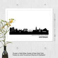 Amsterdam Skyline Bild s/w