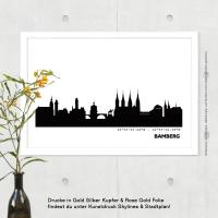 Bamberg Skyline Bild s/w