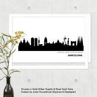 Barcelona Skyline Bild s/w