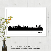 Basel Skyline Bild s/w