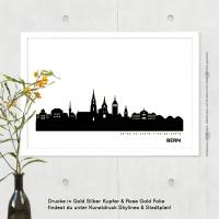 Bern Skyline Bild s/w