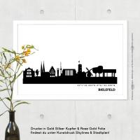 Bielefeld Skyline Bild s/w