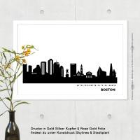 Boston Skyline Bild s/w