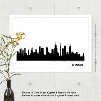 Chicago Skyline Bild s/w