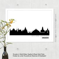 Dresden Skyline Bild s/w